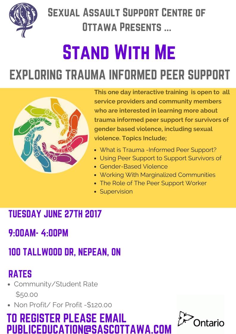 Exploring Trauma Informed Peer SUPPORT